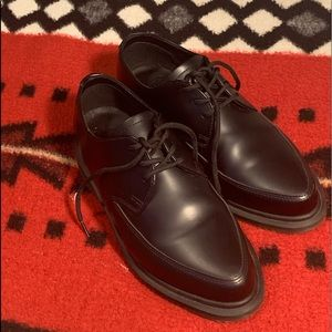 Patent lace up doc martens pointy toes